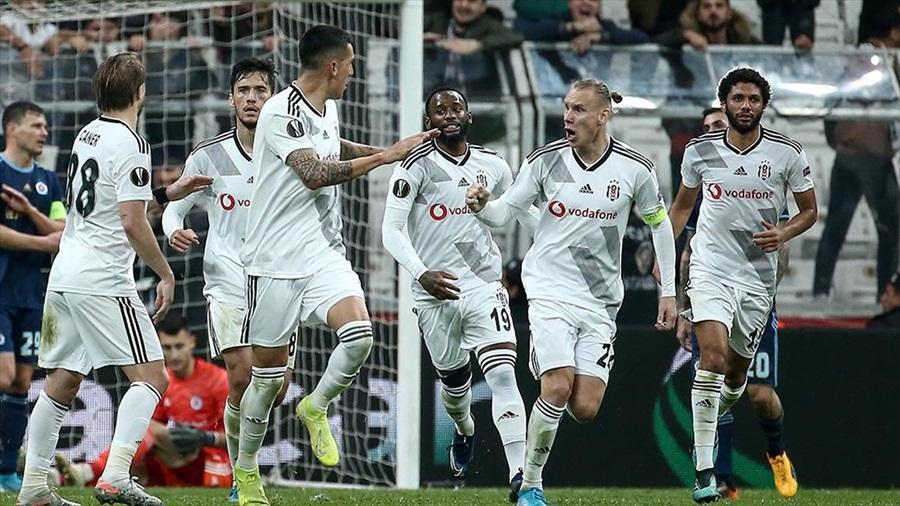 Beşiktaş avantajı üç golle aldı