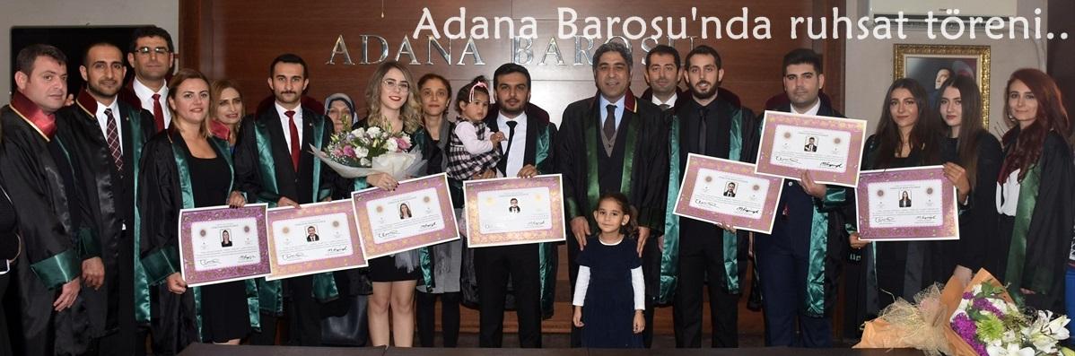 Adana Barosu'nda ruhsat töreni