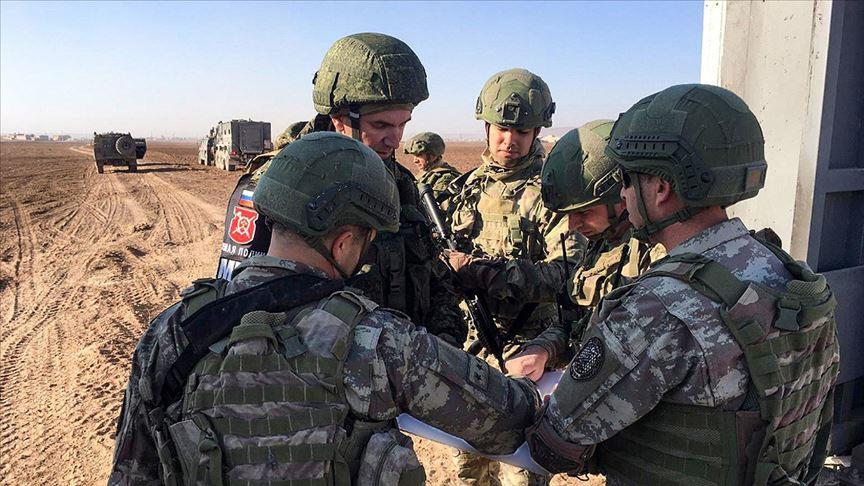 Türk ve Rus askeri unsurları Fırat'ın doğusunda 12. kara devriyesini tamamladı