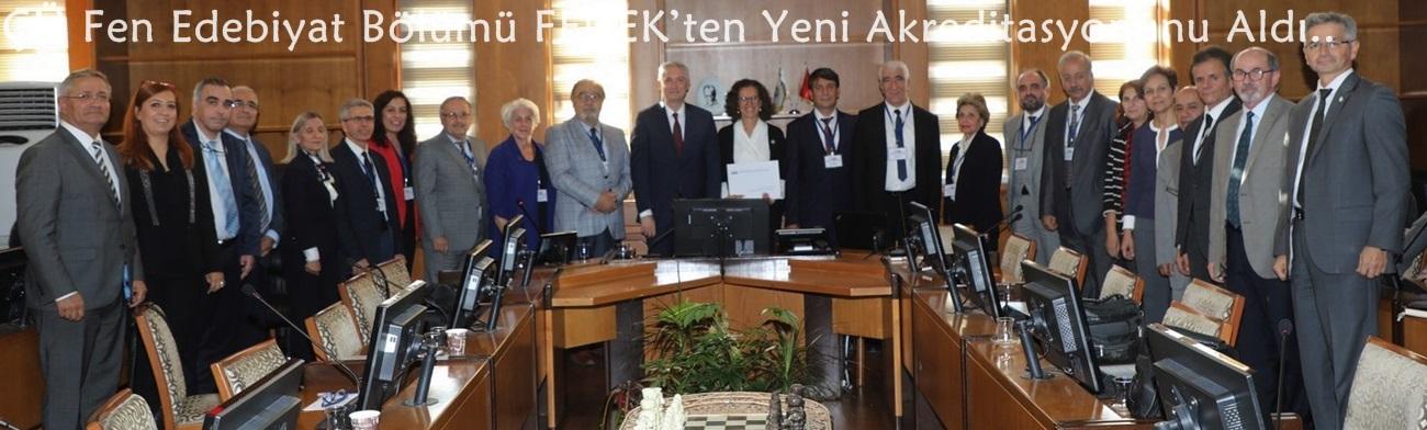 ÇÜ Fen Edebiyat Bölümü FEDEK'ten Yeni Akreditasyonunu Aldı