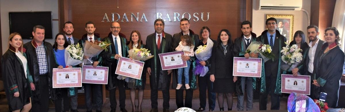 Adana Barosunda avukatlık ruhsat töreni düzenlendi