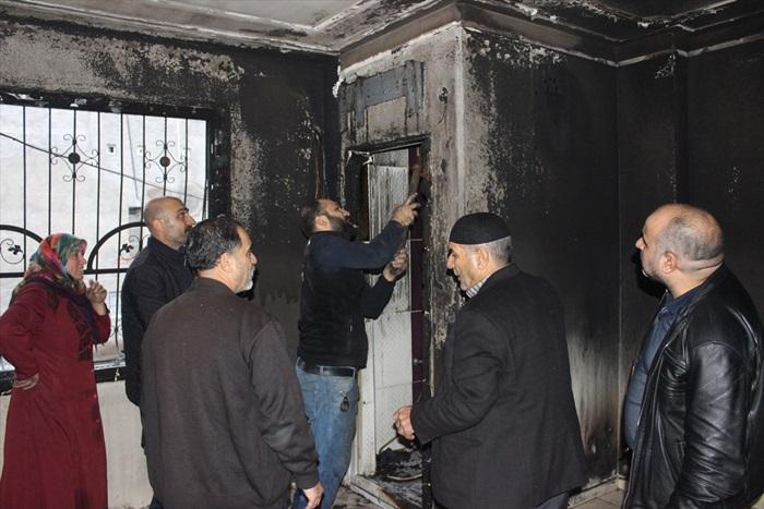 Adana'da yangın çıkan evde ağır hasar oluştu