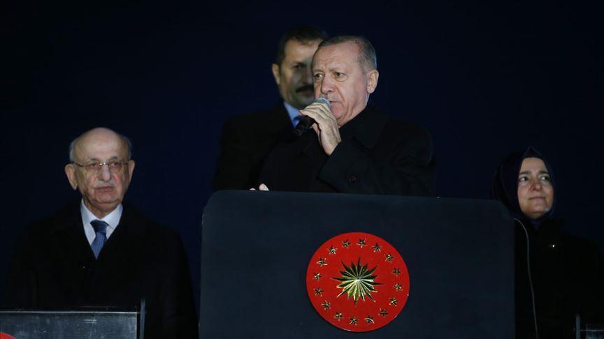 Erdoğan: (İdlib) Rejimin ateşkesle alakalı attığımız adıma uymadığının çok açık bir ispatı