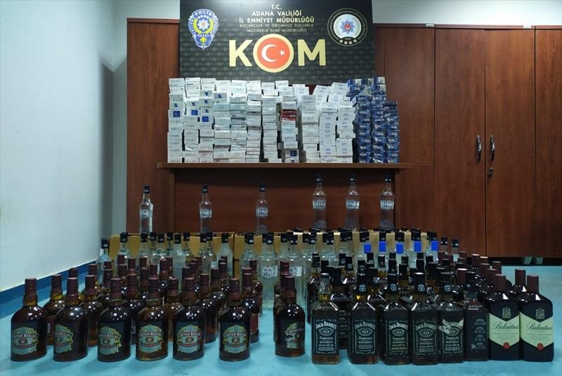 Adana'da barda sahte içki sattığı iddia edilen şüpheli yakalandı