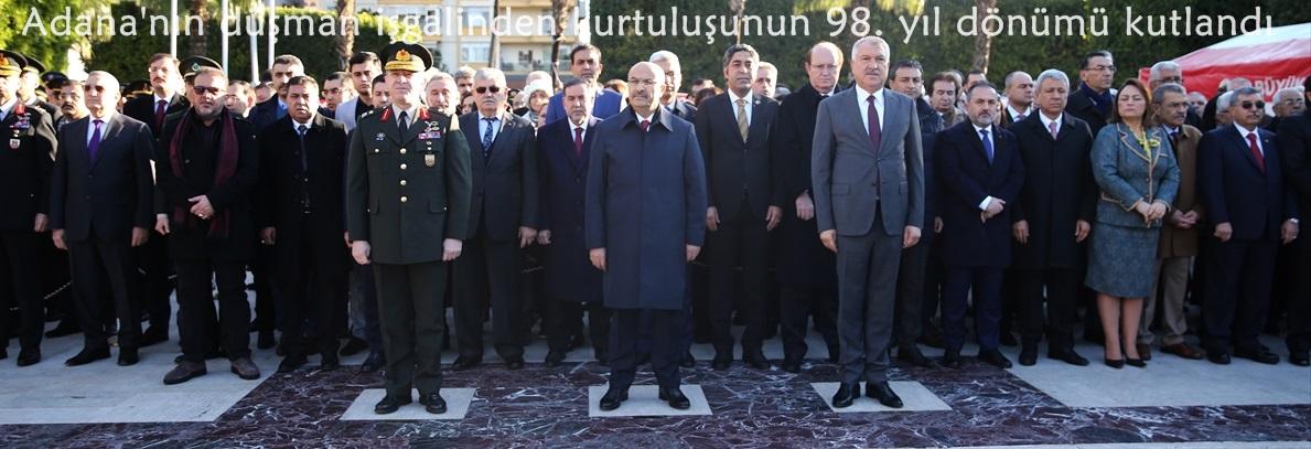 Adana'nın düşman işgalinden kurtuluşunun 98. yıl dönümü kutlandı