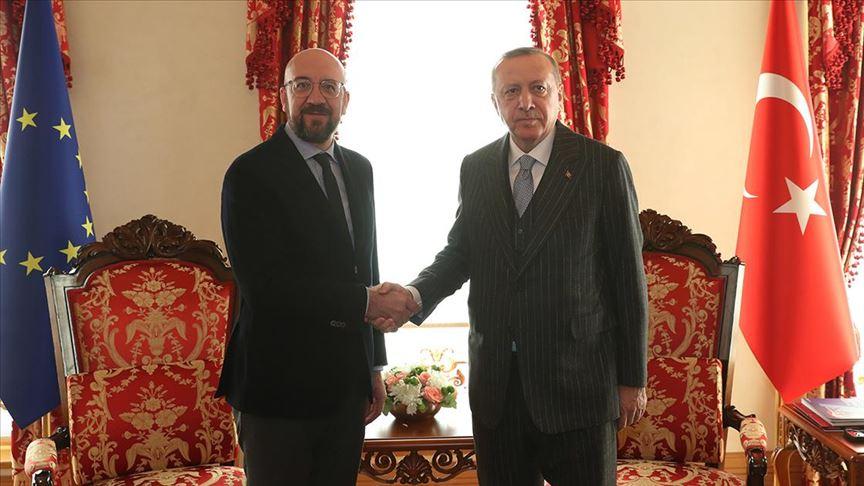 Erdoğan AB Konseyi Başkanı Michel'i kabul etti