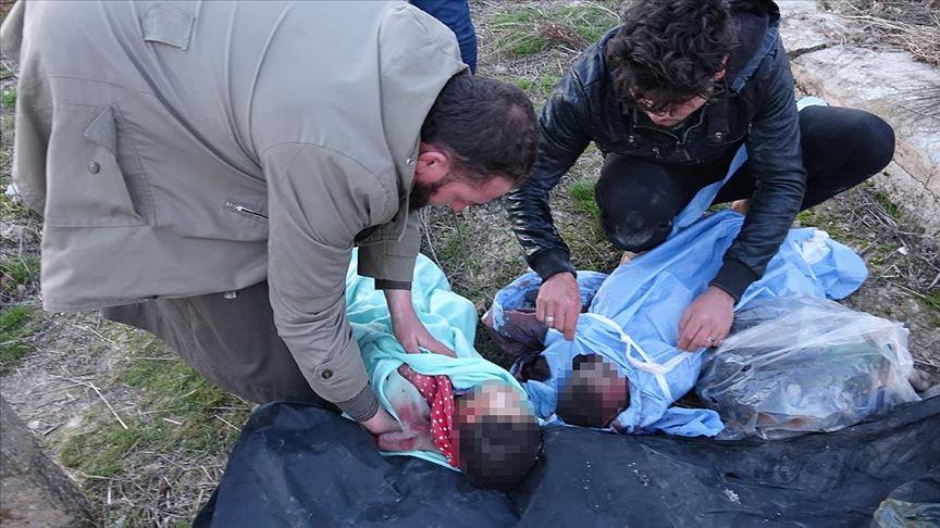 Esed rejiminin vurduğu evde yürek yakan manzara