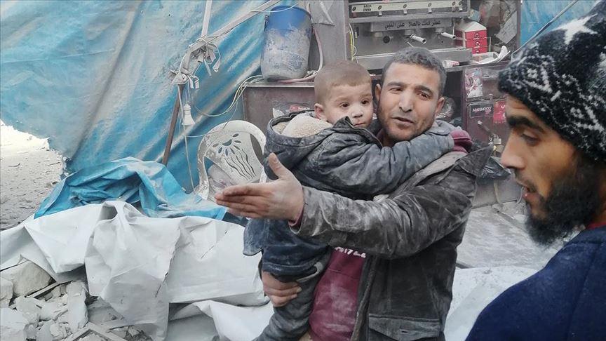 Esed rejimi ve Rusya ateşkese rağmen İdlib'de hava saldırılarına başladı: 10 ölü