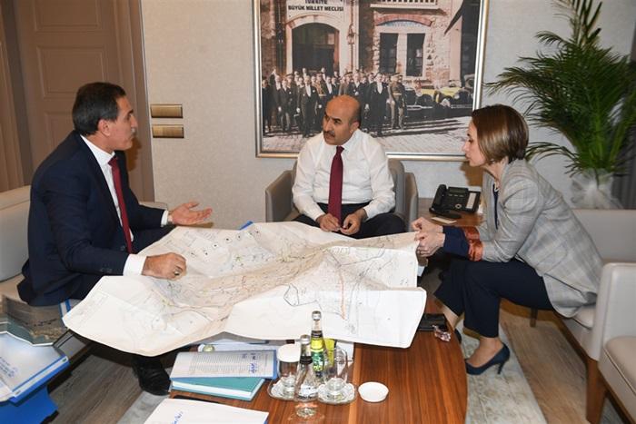 DSİ Genel Müdür Yardımcısı Şadiye Yalçın Vali Demirtaş'ı Ziyaret Etti