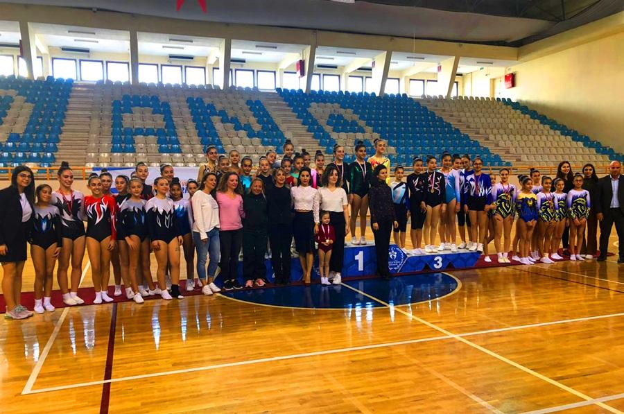 Okullar arası Aerobik Cimnastik İl Birinciliği Müsabakaları sona erdi