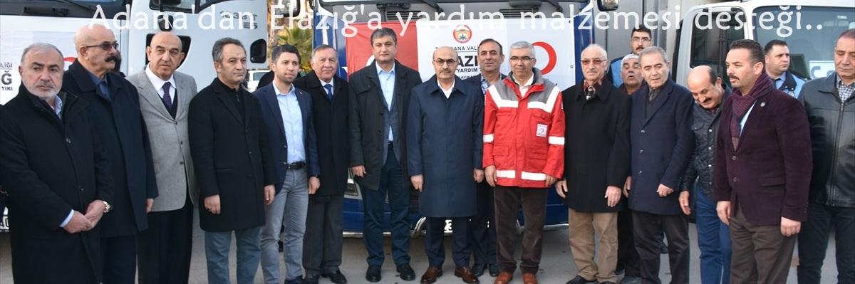 Adana'dan Elazığ'a yardım malzemesi desteği