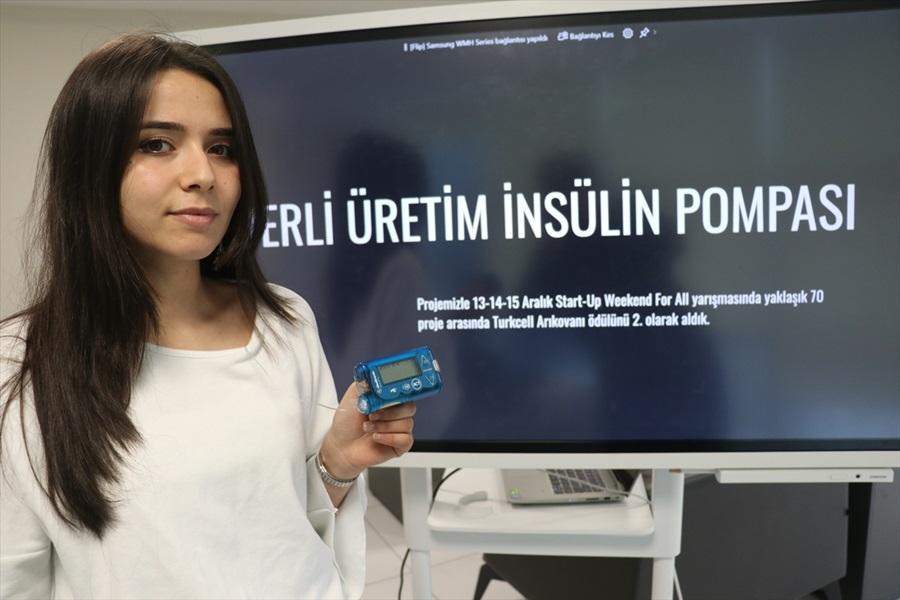 Diyabet hastası genç yerli insülin pompası üretmek istiyor