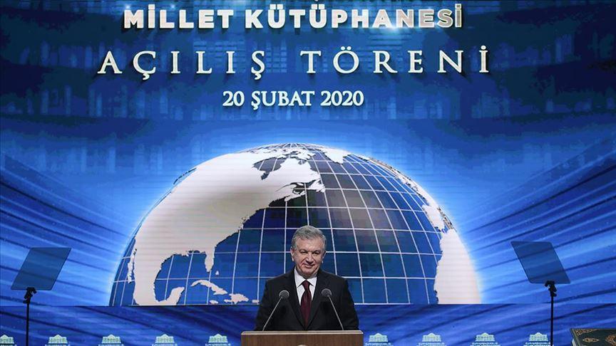 Mirziyoyev: Bugün Türkiye'de marifet ve maneviyat düğünü yapılıyor
