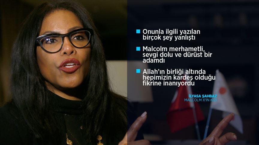 Ölümünün 55. yılında Malcom X'in kızı İlyasa Şahbaz AA'ya konuştu
