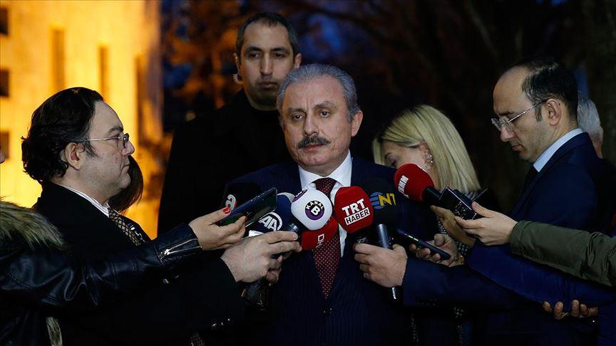 TBMM Başkanı Şentop'tan Meclisin İdlib konusunda olağanüstü toplanması talebine yanıt