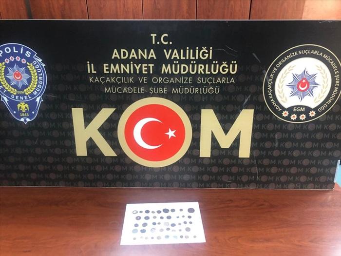 Adana'da tarihi eser kaçakçılığı iddiasıyla bir şüpheli yakalandı