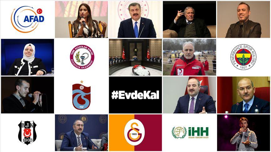 """Koronavirüsten korunmak için sosyal medyadan """"#EvdeKal"""" çağrısı yükseliyor"""