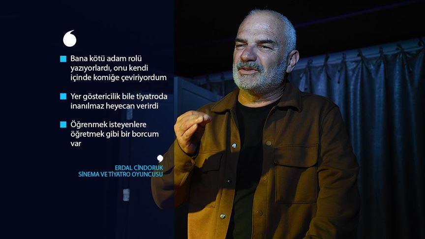 Adanalı oyuncu Erdal Cindoruk sanat yaşamında 40 yılı anlattı