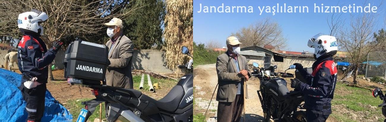 Jandarma yaşlıların hizmetinde