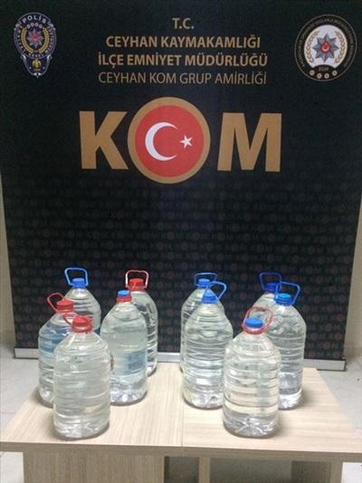 Adana'da 50 litre sahte içki ele geçirildi