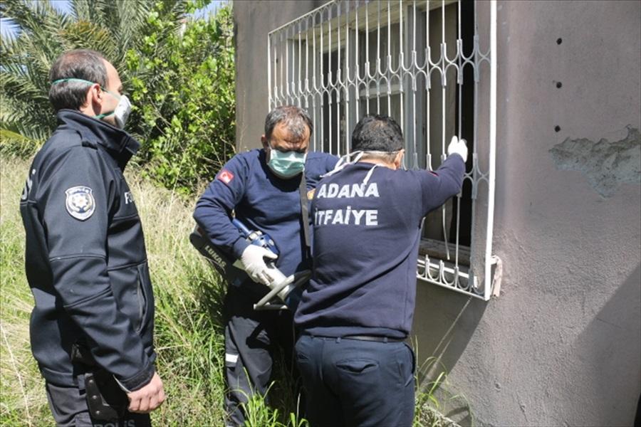 Adana'da yardım ekibi ziyarete gittiği yaşlı kadını yaralı buldu