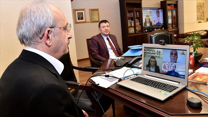 Kılıçdaroğlu, Türk-İş, Hak-İş ve DİSK yöneticileriyle telekonferansla görüştü