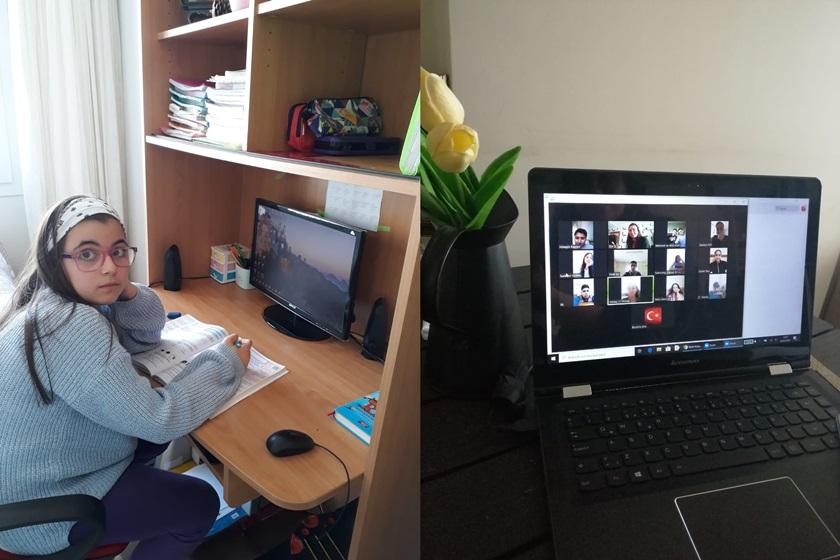 Adana'daki ÖğretmenlerCanlı Ders Bağlantılarıyla Öğrencilerini Yalnız Bırakmıyor