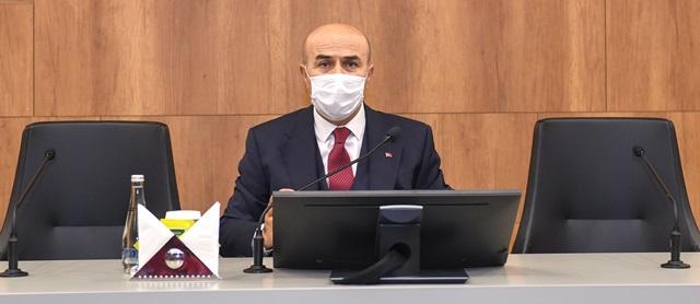 """Vali Demirtaş: """"Koronavirüsün yayılım hızını düşürmenin tek yolu 'evde kal'.."""