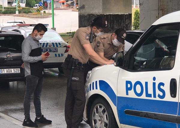 Adana'da sokağa çıkma kısıtlamasına uymayan 6 kişiye para cezası