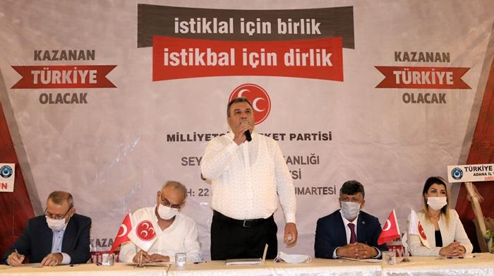 MHP Adana'da üç ilçede kongre yaptı..