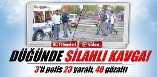 Osmaniye'de düğünde silahlar konuştu