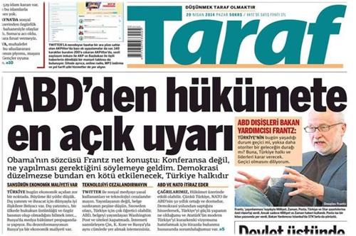 Taraf ABD İle Türkiye'yi Vurdu!