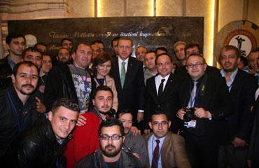 Erdoğan, basın mensuplarını kırmadı