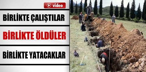 Soma'da kepçelerle mezar kazılıyor