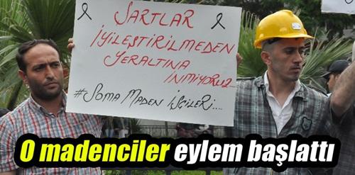 Somalı madenciler eylem başlattı