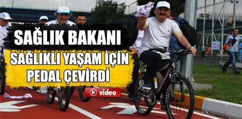 Bakan Müezzinoğlu sağlıklı yaşam için pedal çevirdi