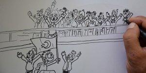 4. Karikatür ve Afiş Yarışması Sergisi İzmir'de sanatseverlerle buluştu