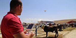Kurban pazarında 'drone'lu önlem..