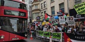 Hollanda ve İngiltere'de 'Nekbe' protesto edildi