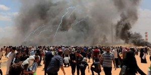 İsrail askerleri Gazze sınırında 21 Filistinliyi yaraladı