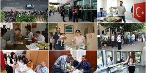 Yurt dışındaki Türk seçmenlerin oy verme işlemi sürüyor