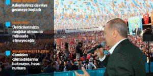 Erdoğan: Askerlerimiz Münbiç etrafında devriye gezmeye başladı