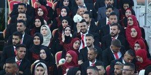 Batı Şeria'da Filistinli 500 çifte toplu düğün töreni