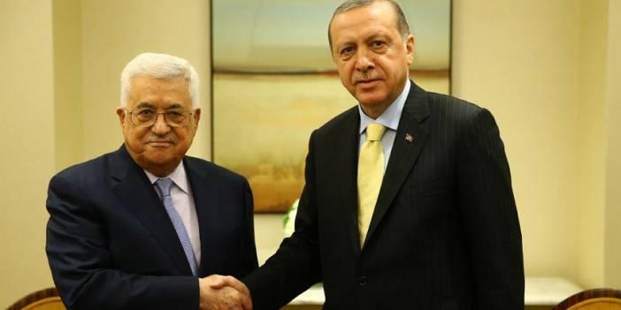 Erdoğan, Filistin Devlet Başkanı Abbas ile 'sözde barış planı'nı görüştü