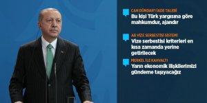 Erdoğan: Merkel ile iş birliği mekanizmalarını işler kılma kararına vardık