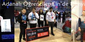 """""""Yarını Kodlayan"""" Adanalı Öğrenciler Çin'de Dünya Üçüncüsü Oldu"""