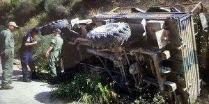 Hatay'da askeri araç devrildi: 19 yaralı