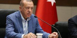 Erdoğan: Kuzey Kıbrıs'taki kardeşlerimizin hakkını kimseye yedirmeyiz