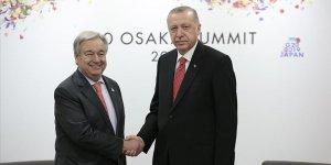 Erdoğan BM Genel Sekreteri Guterres'i kabul etti