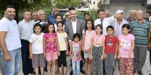 Vali Demirtaş, Sarıçam İlçesi Hocallı Mahallesi'nde Vatandaşlarla Buluştu